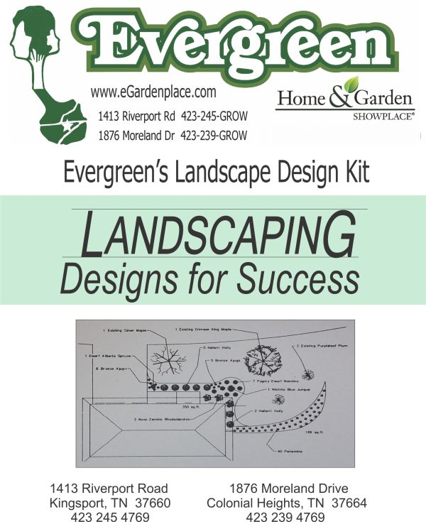 evergreen landscape design kit tree & shrub planning