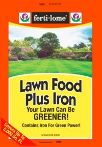 lawn food plus iron ferti-lome