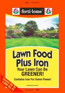 lawn food plus iron ferti-lome