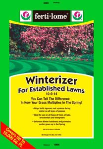 ferti-lome winterizer lawncare program